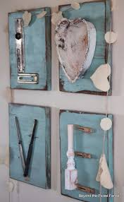 diy wall letters and initals wall art diy rustic junk letters cool architectural letter