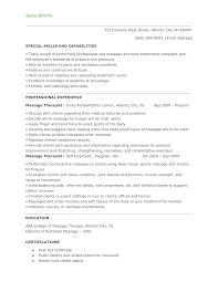 Resume Resume Massage Therapist