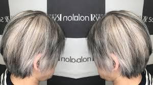 白髪ぼかし染めもう伸びた根元に悩まないハイライト髪色 Youtube