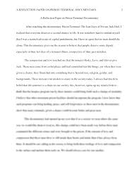 Reflection papers are not limited to movies; Solution Reflection Paper 1 5 Pages About A Documentary Film Studypool