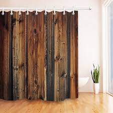 details about us ship rustic vintage wood planks bathroom waterproof fabric shower curtain set