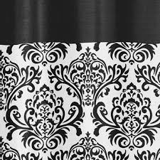 black and white isabella kids bathroom fabric bath shower curtain only 39 99