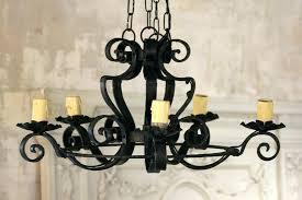 wrought iron fixtures industrial 6 light