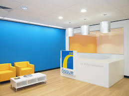 office builder case studies blue office walls