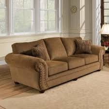 Simmons Upholstery Troy Bronze Chenille Sofa at Menards $400