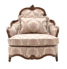 Armchair Upholstery Michael Amini Del Royale Armchair With Silver Tone Upholstery Ebth