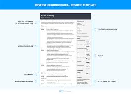 Chronological Resume Layout Chronological Resume Template Format Examples