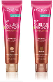 sublime bronze summer express wash off body make up lotion
