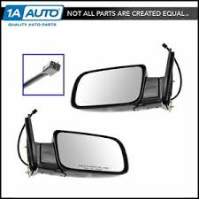 Mirrors Power Black Folding Left/Right Pair Set for Chevy GMC Pickup ...