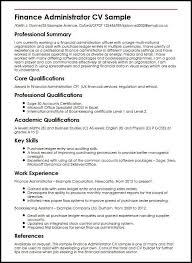 Cv Examples Administration Finance Administrator Cv Sample Myperfectcv