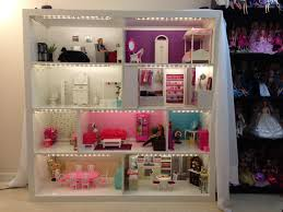 barbie wood furniture. Barbie House From Expedit Shelves, Now With Lighting! Also We Put On A Permanent Wood Furniture B