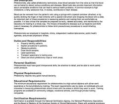 Certified Phlebotomist Technician Cover Letter Sample Trainee