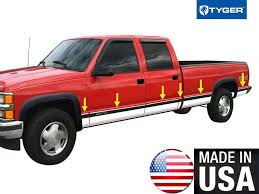 For 88-98 Chevy Pickup Truck Crew Cab Long Bed With Fende Flare Full ...