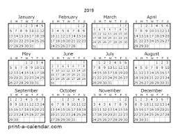 printable 6 month calendar 2019 download 2019 printable calendars