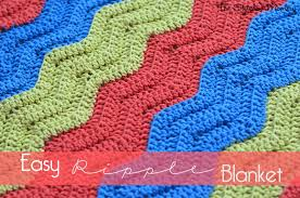 Crochet Ripple Pattern Enchanting Easy Crochet Ripple Blanket The Stitchin Mommy