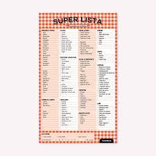 Lista De Compras Para El Supermercado Super Lista