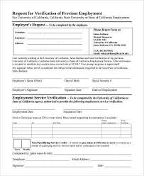 Free Employment Verification Form Template Mesmerizing Sample Employment Verification Request Forms 48 Free Documents In