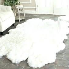 faux fur area rugs sheepskin rug to elegant grey x full size of furry brown