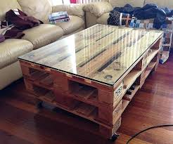 crates coffee table wine