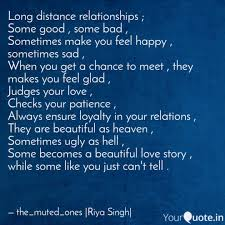 Long Distance Relationshi Quotes Writings By Riya Singh