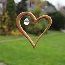 Fensterdeko Aus Holz Herz Mit Kristall Kaufen
