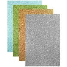 Цветная <b>бумага</b> А4, шелк с блестками, 4 цвета, <b>Hatber Creative Set</b>