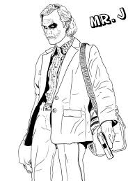 Small Picture Mr J is Joker Coloring Page NetArt