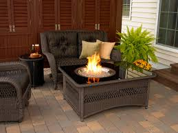 Patio Ideas Patio Furniture Set With Fire Pit Table And Rattan