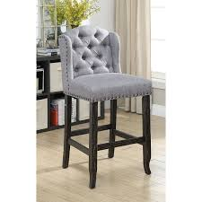 furniture of america telara contemporary tufted wingback 30inch bar height chair set furniture chair set k70 furniture