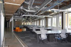 facebook menlo park office. Basic: Exposed Pipes Wrapped In Silver Insulation Foil And Dangling Wires Can Be Seen Facebook Menlo Park Office H