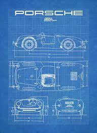 17 best images about porsche 356 cars vintage and porsche 550 spyder diagram vintage racecar blueprint 911 356