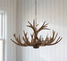 faux antler chandelier pottery barn for amazing household faux antler chandelier decor