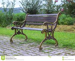 Side View Of Bench In Garden Stock Images  Image 34176794Sit Bench