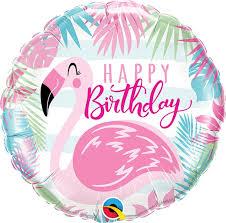 18 Inch Happy Birthday Pink Flamingo Pkg Price Per Each Minimum Order 5