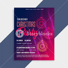 Christmas Flyer Templates Shiny Merry Christmas Flyer Template With Copyspace Royalty