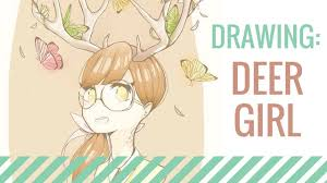 Huge Collection Of Deer Girl Drawing Download More Than 40 Images