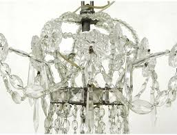 charles x chandelier trash chandelier crystal glass carved garlands nineteenth
