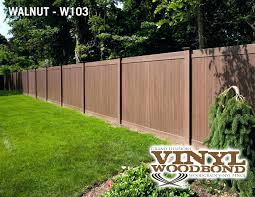 grand illusions fence decorative vinyl 6 walnut privacy dealers r46