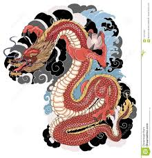 дракон нарисованный рукой Zentangle стиля китайский и эскиз для