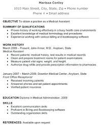 Medical Assistant Resume Free Resume Samples Medical Assistant Cool Medical Assistant Summary For Resume