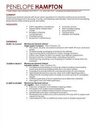 Resumes Cover Letters General Labor Resume3