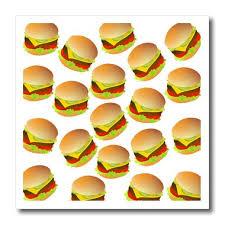 cheeseburger pattern. Plain Cheeseburger 3dRose Ht_180302_1 Image Of Cheeseburger Repeat Design PatternIron On Heat  Transfer Paper For White Inside Pattern