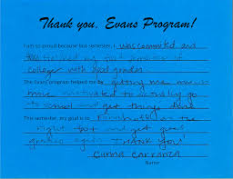 evans testimonials mpc foundation i am so proud because last semester i was committed and finished my first semester