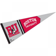 boston university college pennant and college pennants for boston  boston university college pennant and college pennants for boston university