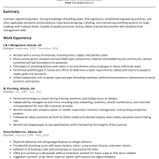 Plumber Resume Plumber Resume Sample Resumelift for Plumbers Job Description 18