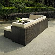 Crosley Furniture Palm Harbor Outdoor Wicker Folding Table Palm Harbor Outdoor Furniture