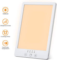 Sun A Lux Light Box Light Therapy Lamp Cotify Led Sun Lamps With Uv Free 10000 Lux Brightness Led Therapy Box With 3 Adjustable Brightness Levels Touch Control
