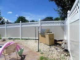 black vinyl privacy fence. White Fence With Lattice Black Vinyl Privacy O