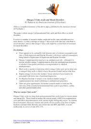 Pdf Omega 3 Fatty Acids And Mood Disorders