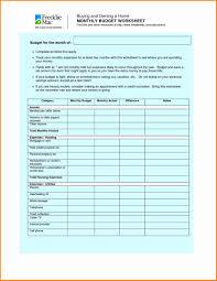 Weekly Budget Worksheet Pdf Inspirational Resume 47 Beautiful
